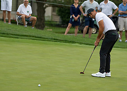 June 1, 2018 - Dublin, OH, U.S. - DUBLIN, OH - JUNE 01: Jason Day putting during the second round of the Memorial Tournament at Muirfield Village Golf Club in Dublin, Ohio on June 01, 2018.(Photo by Jason Mowry/Icon Sportswire) (Credit Image: © Jason Mowry/Icon SMI via ZUMA Press)