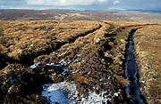 Moorland drainage, Coignafearm, Inverness, Scotland, UK,land mangement