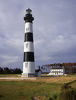 AA05834-04...NORTH CAROLINA - Bodie Island Lighthouse on the Outer Banks in the Cape Hatteras National Seashore.
