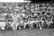 The winning Tipperary team posing with the Liam MacCarthy Cup on the pitch after the All Ireland Minor Hurling Final, Tipperary v Kilkenny in Croke Park on the 5th September 1976.