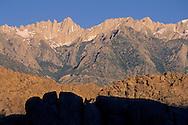 Mount Whitney as seen from the Alabama Hills, near Lone Pine, Eastern Sierra, California