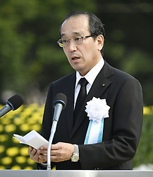 71. Jahrestag des Atombombenabwurfs in Hiroshima / 060816<br /> <br /> ***Hiroshima Mayor Kazumi Matsui calls on world leaders on Aug. 6, 2016, the 71st anniversary of the U.S. atomic bombing***