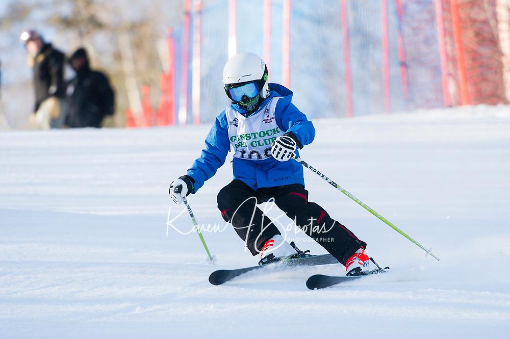 GSC Gus Pitou memorial giant slalom race U10.  ©2018 Karen Bobotas Photographer
