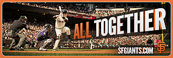 Bus ad, San Francisco Giants ad campaign, Baker Street Advertising, 2014