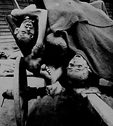bodies being removed by German civilians for  burial at Gusen Concentration Camp, Muhlhausen, near Linz, Austria