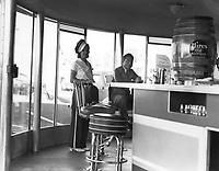 1939 Car Hop at Carpenter's Drive In at Washington & Crenshaw Blvds.