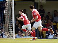 Photo: Olly Greenwood.<br />Southend United v Barnsley. Coca Cola Championship. 14/04/2007. Barnsley's Daniel Nardiello celebrates scoring
