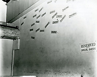 1943 Signature wall on the south wall of the main room of the Hollywood Canteen