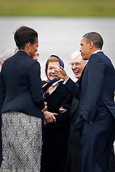 Lensmen Photographic Agency in Dublin, Ireland.<br /> President Barack Obama and First Lady Michelle Obama visit Dublin