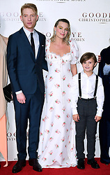 Domhnall Gleeson, Margot Robbie and Will Tilson attending the world premiere of Goodbye Christopher Robin at the Odeon in Leicester Square, London. See PA story SHOWBIZ Goodbye. Picture Date: Wednesday 20 September. Photo credit should read: Ian West/PA Wire
