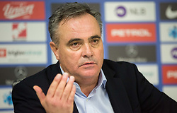 Tomaz Kavcic, head coach of Slovenia during press conference after the football match between National Teams of Slovenia and Cyprus in Final Tournament of UEFA Nations League 2019, on October 16, 2018 in SRC Stozice, Ljubljana, Slovenia. Photo by Vid Ponikvar / Sportida