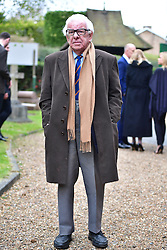 © Licensed to London News Pictures. 18/04/2016. Shirley, UK.  The funeral of comedian, actor, writer Ronnie Corbett, held at St John the Evangelist Church in Shirley near Croydon. Corbett, who was most famous for his comedy sketch show  The Two Ronnies, performed with the late Ronnie Barker, died at the age of 85. Photo credit: Ben Cawthra/LNP
