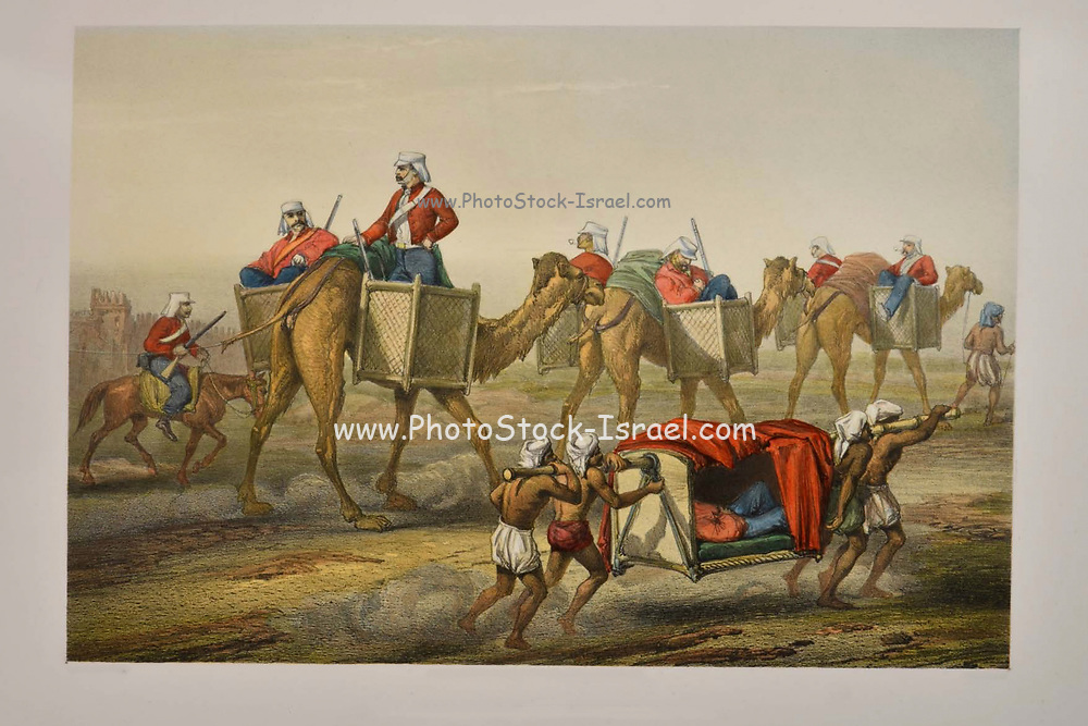 Reinforcements Proceeding to Delhi Lithograph from the book Campaign in India 1857-58 Illustrating the military operations before Delhi ; 26 Hand coloured Lithographed plates. by George Francklin Atkinson Published by Day & Son Lithographers to the Queen in 1859