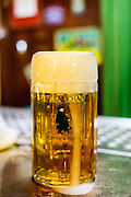 "A fresh draught beer at the traditional Svejk pub ""U Kalicha"" in Prague."