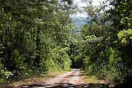 Steep road in San Miguel de los Banos, Matanzas, Cuba.