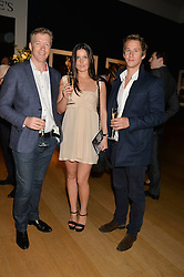 Left to right, ANGUS DONALDSON, HELEN BOAL and LUCAS LONDON at the Christie's Conservation Lectures in aid of Tusk held atChristie's, 8 King Street, London on 30th April 2014.