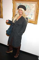 MEG MATHEWS at the opening of an exhibition of paintings and watercolours by Raoul Dufy held at the Opera Gallery, 134 New Bond Street, London W1 on 6th February 2006.<br />