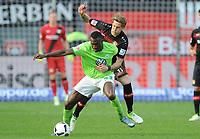 v.l. Josuha Guilavogui, Stefan Kiessling (Leverkusen)<br /> Leverkusen, 02.04.2017, Fussball, Bundesliga, Bayer 04 Leverkusen - VfL Wolfsburg<br /> Norway only