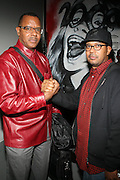 l to r: Jamel Shabazz and Jayson Jackson at The First Annual 2009 Gold Rush Awards held at the Red Bull Space on February 11, 2009 in New York City..Rush Arts Gallery (Chelsea, NY) and Corridor Gallery (Clinton Hill, Brooklyn) founded 1996 are core programs within the Rush Philanthropic Arts Foundation (non-profit) dedicated to providing urban youth with significant exposure and access to the arts, as well as providing exhibition opportunities to artists.  The exhibitions and education programs of the galleries are also sponsored in part by a grant from the New York State Council for the Arts and are free and open to the public..