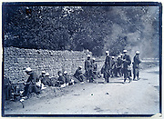 ww1 French army detachment having a lunch break France