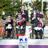 Team Prize Giving - Team Competition - FEI European Para Dressage Championships 2015 - Deauville