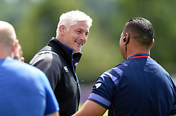 Bath Director of Rugby Todd Blackadder speaks with Bristol Rugby Head Coach Pat Lam during the pre-match warm-up - Mandatory byline: Patrick Khachfe/JMP - 07966 386802 - 12/08/2017 - RUGBY UNION - Cribbs Causeway Ground - Bristol, England - Bristol Rugby v Bath Rugby - Pre-season Friendly