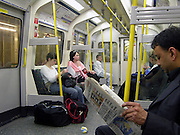 Waiting for a train, The London underground