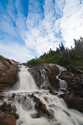 Kulshan Falls, Mt. Baker Wilderness, Mt. Baker Snoqualmie National Forest, Washington, US