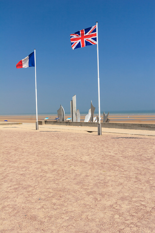 """""""The Braves"""" monument in <br /> Saint-Laurent-sur-Mer, France.<br /> Monumental work of art designed by artist Anilore Banon in memory of Allied Forces soldiers bravery."""