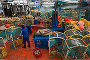 Crayfish fishing boat<br /> Hout Bay harbor<br /> Western Cape<br /> SOUTH AFRICA