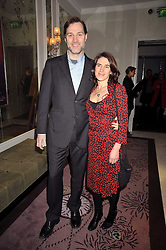 DAVID MORRISSEY and his wife ESTHER FREUD at a party to celebrate the publication of 'In Bed With' held at the Artesian Bar,The Langham Hotel, 1c Portland Placeon 11th February 2009.
