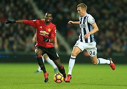 17 December 2016 - Premier League - West Bromwich Albion v Manchester United - Darren Fletcher of West Bromwich Albion ghosts past Paul Pogba of Manchester United - Photo: Paul Roberts / Offside.