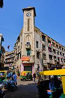 Inde, Etat de Gujarat, Ahmedabad, classé Patrimoine Mondial de l'UNESCO, vielle ville, architecture art deco // India, Gujarat, Ahmedabad, Unesco World Heritage city, old city, art-deco building