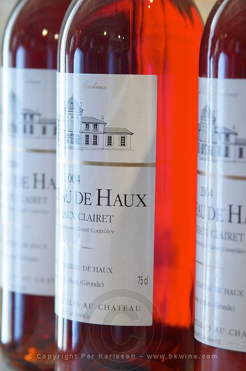 Rose wine with screwcap. Chateau de Haux, Bordeaux, France