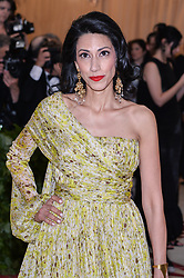 Huma Abedin walking the red carpet at The Metropolitan Museum of Art Costume Institute Benefit celebrating the opening of Heavenly Bodies : Fashion and the Catholic Imagination held at The Metropolitan Museum of Art  in New York, NY, on May 7, 2018. (Photo by Anthony Behar/Sipa USA)