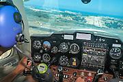 Pilot flying a Cessna plane