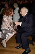 Lady Quinton and Lord Weidenfeld. Celebration of Lord Weidenfeld's 60 Years in Publishing hosted by Orion. the Weldon Galleries. National Portrait Gallery. London. 29 June 2005. ONE TIME USE ONLY - DO NOT ARCHIVE  © Copyright Photograph by Dafydd Jones 66 Stockwell Park Rd. London SW9 0DA Tel 020 7733 0108 www.dafjones.com