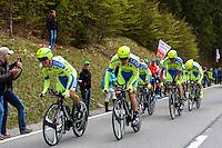 Team Tinkoff Saxo - 28.04.2015 - Tour de Romandie - Etape 01 : Vallee de Joux / Juraparc - CLM Par Equipes<br />Photo : Sirotti / Icon Sport  *** Local Caption ***