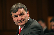 Ambassador Karl W. Eikenberry, US Ambassador  to Afghanistan at a hearing of the Senate Armed Services Committee on December 8, 2009.  Photograph by Dennis Brack