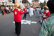 India, Maharashtra, Nashik Band performs at a celebration