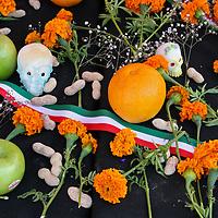 Mexico, Oaxaca.  Typical shrine displays for Dia de Los Muertos (Day of the Dead).
