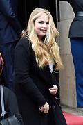 Prinses Beatrix geeft in het Koninklijk Paleis in Amsterdam een verjaardagsontvangst voor familie, vrienden en bekenden. Prinses Beatrix werd afgelopen woensdag tachtig jaar en vierde haar verjaardag in besloten kring.<br /> <br /> Princess Beatrix gives a birthday reception for family, friends and acquaintances at the Royal Palace in Amsterdam. Princess Beatrix was eighty years old last Wednesday and fourth birthday in private.<br /> <br /> Op de foto / On the photo: Prinses Amalia / Princess Amalia
