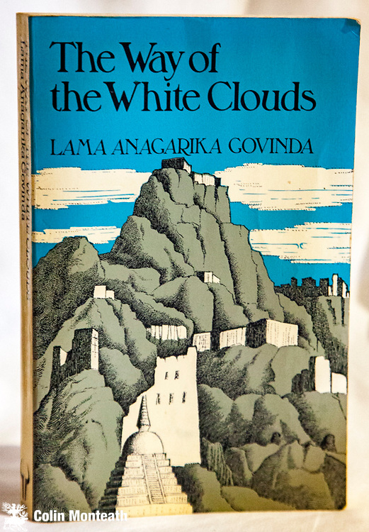 THE WAY OF WHITE CLOUDS - Lama Anagarika Govinda, Rider & Co., London, 1980, 300 page softbound, B&W plates, minor water damage to two plates, remarkable pilgrimage through Tibet pre-Chinese invasion $NZ45