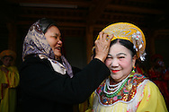 Vietnamese women prepare for a traditional ritual to celebrate Tet in a small village of Bac Ninh Province, Vietnam, Southeast Asia
