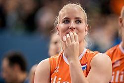 01-10-2017 AZE: Final CEV European Volleyball Nederland - Servie, Baku<br /> Nederland verliest opnieuw de finale op een EK. Servië was met 3-1 te sterk / Marrit Jasper #18 of Netherlands
