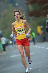 Kajsa Berg  (Swe) v cilju na 13. Ljubljanskem maratonu po ulicah Ljubljane, 26. oktobra 2008, Ljubljana, Slovenija. (Photo by Vid Ponikvar / Sportal Images)./ Sportida)
