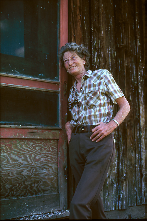 Bert Baptie at her home in Muldoon Canyon in the foothills above Carey Idaho.  Licensing and Open Edition Prints.