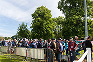 The crowds wait in line ahead of day two of the Specsavers County Champ Div 1 match between Yorkshire County Cricket Club and Warwickshire County Cricket Club at York Cricket Club, York, United Kingdom on 18 June 2019.