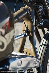 "A custom Shovelhead by Takuya ""Taku"" Aikawa in front of his Sure Shot Motorcycles shop. Chiba Prefecture, Japan. Saturday December 9, 2017. Photography ©2017 Michael Lichter."