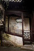 A decorative stairwell in Yu Yuan Gardens Shanghai, China